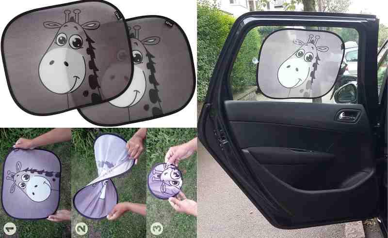 Parasol de coche para bebés EZ-Bugz Jirafa